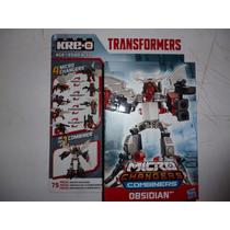 Transformers Kreo Microchangers Combiners Wars Obsidian