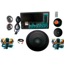 Kit Completo De Amplificador De Audio Usb,sd,mp3 Bluetooth