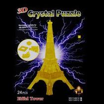Rompecabezas 3d Acrilico Torre Eiffel Amarilla Op4