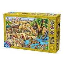 Jigsaw Puzzle - D-juguetes Cartoon Desert Oasis Colección 1