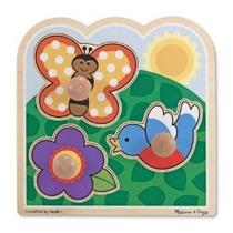 Melissa & Doug En El Jardín Jumbo Perilla Puzzle