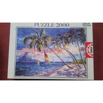 Rompecabezas Educa 2000 Piezas Arte Aguas Caribeñas Paisajes