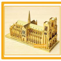 Rompecabezas Notre Dame Paris Oro Puzzle Laser Metál 3d