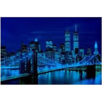 100-325 Puente Brooklyn Rompecabezas Brilla Noche 1000 Tomax