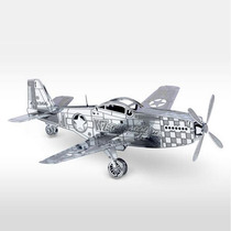 Fascinations Avion P 51 Mustang Rompecabezas 3d Metal Armar