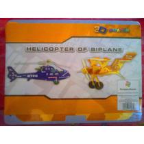 Rompecabezas Helicoptero Y Avioneta Armable De Fomi