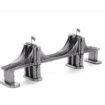 Rompecabezas Miniatura 3d Metálico Puente De Brooklyn