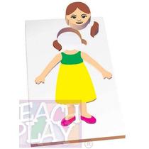 23463 Cuerpo Niña Rompecabezas 9 Piezas De Madera Teach Play