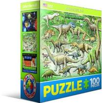Jigsaw Puzzle - Dinosaurios 100 Piezas Eurographics Mini