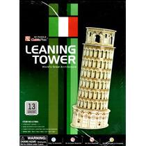 Rompecabezas 3d Torre Inclinada De Pisa Italia 13 Pzas
