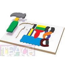 23401 Herramientas Rompecabezas 18 Piezas Madera Teach Play