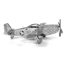 Avion P51 Mustang Fighter Rompecabezas 3d Metal Puzzle