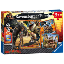 Jigsaw Puzzle - Ravensburger Dragones Para Niños Familia