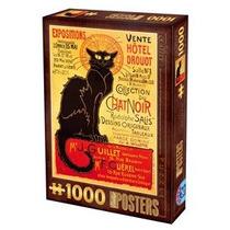 Jigsaw Puzzle - D-juguetes Vintage Impresiones Chat Noir 100