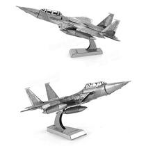 Rompecabezas Miniatura 3d Metálico Avión F15