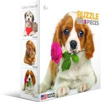 Jigsaw Puzzle - Perro Con Rose 100 Piezas Eurographics Mini
