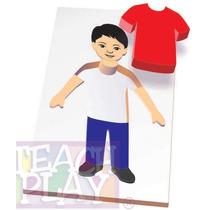 23456 Cuerpo Niño Rompecabezas 9 Piezas De Madera Teach Play