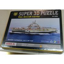 Rompecabezas 3d D Cartón Plastificado Barco Porta Aviones Gd