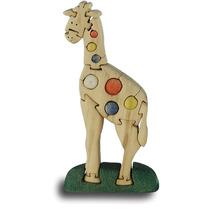 Jirafa De Madera Puzzle - Handcrafted Childrens Juguete Jueg