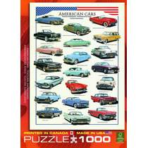 Jigsaw Puzzle - Coches Americanos De Los 50s 1000 Pedazo