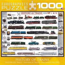 Jigsaw Puzzle - Historia De Los Trenes 1000 Eurographics Pie