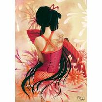 87590 Mujer Con Vestido Rojo Rompecabezas 1000 Pzs Nathan