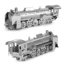 Rompecabezas Mini 3d Metalico Genial Locomotora Vapor