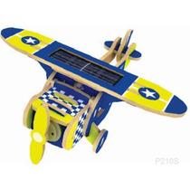 Rompecabezas 3d Avion Monoplano Madera Celda Solar Robotime