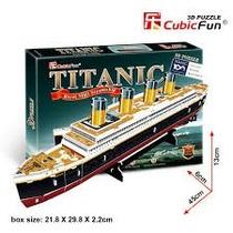 Titanic Rompecabezas 3d Puzzle Cubicfun Barco Titanic T4012h