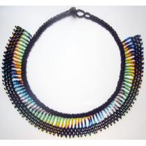 Collar Arte Huichol Chaquira Abalorio Wixarika Czech Bead