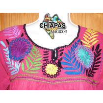 Hermosa Blusa Unitalla Bordada De Chiapas Diseño Especial 9