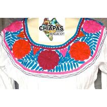 Hermosa Blusa Unitalla Bordada De Chiapas, Diseño Especial 1