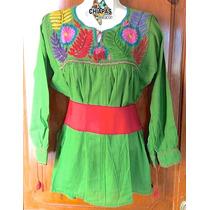 Hermosa Blusa Unitalla Bordada De Chiapas Diseño Especial 5