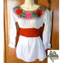 Hermosa Blusa Unitalla Bordada De Chiapas, Diseño Especial 3