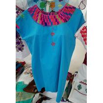 Blusas Manta/ Artesanales Bordadas A Mano Típicas De Chiapas