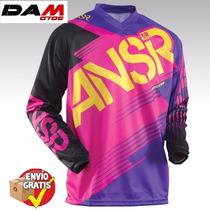 Jersey Answer Racing Syncron Youth Xl Pink/purple Cuatrimoto