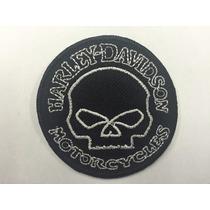 Parche Harley Willie Skull Black Small Parche Biker