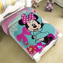 Minnie Mouse Frazada Cunero Cobertor Bebe Ligero 1.10* 90