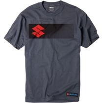 Factory Effex Manga Suzuki Para Hombre Corta Camiseta Gris C