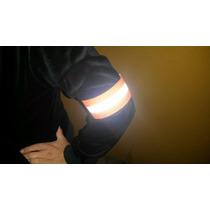Brazalete Reflejante Ciclista Moto Seguridad Vial Par Neón