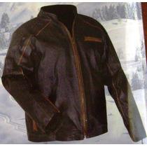 Chamarra Piel Genuina Vestir Motociclismo Choper Mdn