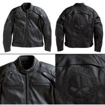 Chamarra Harley Davidson Skull De Piel