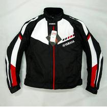 Chamarra Yamaha Negra Con Rojo Protecciones