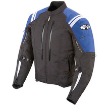 Chamarra Joe Rocket Protecciones Atomic 4.0 Azul Impermeable