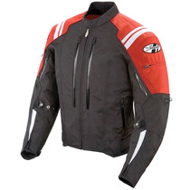 Chamarra Joe Rocket Protecciones Atomic 4.0 Roja Impermeable