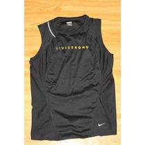 Playera Nike Negra Livestrong Talla M Para Dama Dri Fit