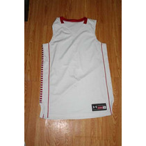 Playera Under Armour Basketball Blanca Talla L De Licra