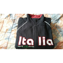 Sudadera Deportiva Roma Italia Color Negro Talla L Hombre