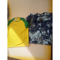 2 Playeras, Brasileñas Originales Talla M