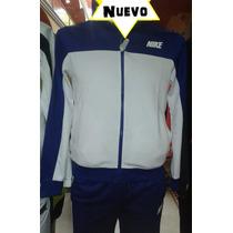Pants Nike Hombre Blanco Con Vivos Azules Nuevo Oferta